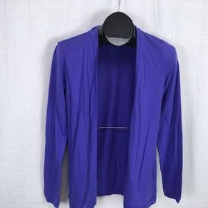 J Crew Jersey Knit Open Front Cardigan Purple  Med